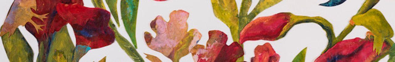 Flight of Fancy_acrylic paint, rice paper, acid free glue & Stonehenge paper_76cm x 56cm
