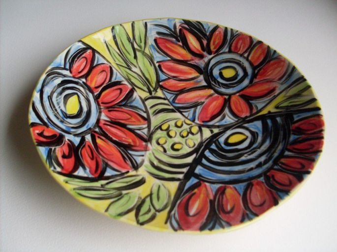 Abstract Flower Plate