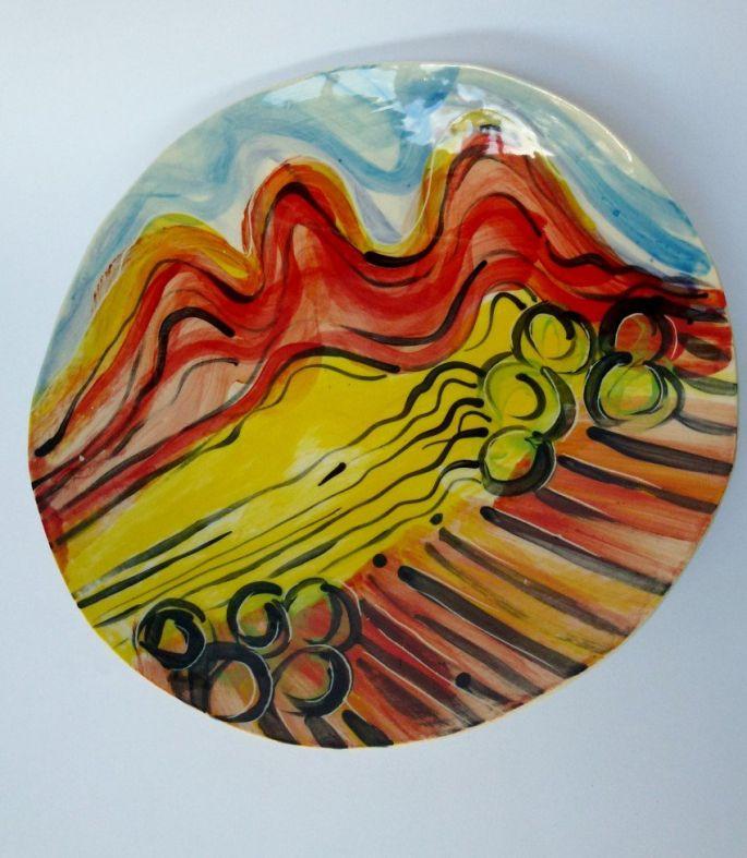 Outback Landscape Plate