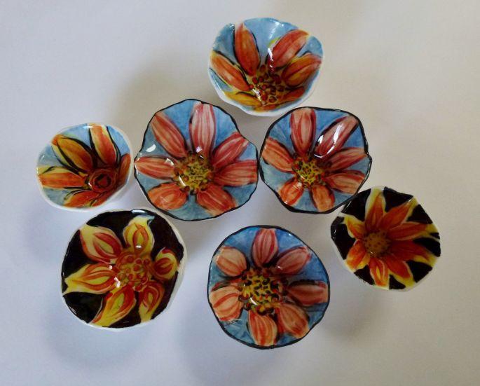 Porcelain Flower Bowls